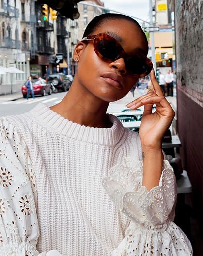 The Fashion Magpie Eyelet SEA Sweater